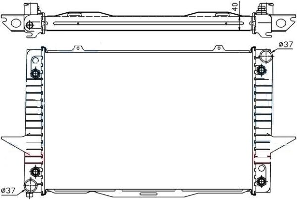 Volvo S/V70 97- Radiators 2.0-2.5der850/AUT ABAS PUSES